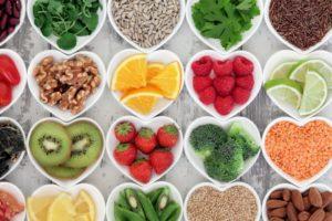 healthy foods vegetables fruits grains